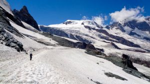 Chessjengletscher · Alpes, Alpes valaisannes, Massif de l'Allalin, CH · GPS 46°4'2.11'' N 7°55'22.69'' E · Altitude 2966m