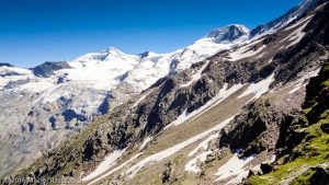 Oberes-Distelhorn · Alpes, Alpes valaisannes, Massif de Michabel, CH · GPS 46°6'33.62'' N 7°53'46.43'' E · Altitude 2890m