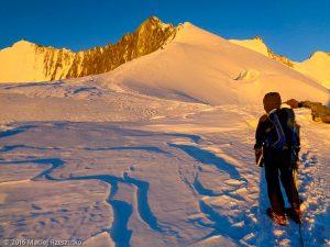 Windjoch · Alpes, Alpes valaisannes, Massif de Michabel, CH · GPS 46°6'57.11'' N 7°52'22.81'' E · Altitude 3853m