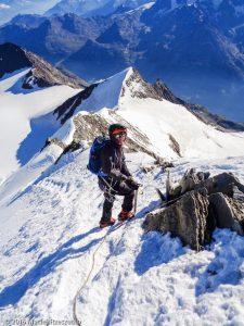 Arête NE du Nadelhorn · Alpes, Alpes valaisannes, Massif de Michabel, CH · GPS 46°6'34.69'' N 7°51'51.79'' E · Altitude 4233m