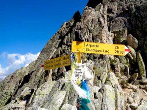 Fenêtre d'Arpette · Alpes, Valais, Massif du Mont-Blanc, CH · GPS 46°1'8.56'' N 7°2'23.50'' E · Altitude 2665m