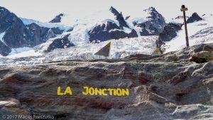 La Jonction · Alpes, Massif du Mont-Blanc, Vallée de Chamonix, FR · GPS 45°52'37.31'' N 6°51'28.36'' E · Altitude 2589m