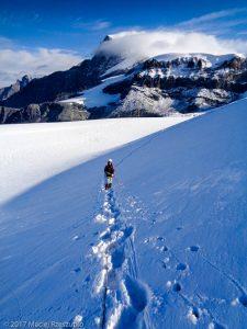 Mellichgletscher · Alpes, Alpes valaisannes, Vallée de Saas, CH · GPS 46°1'55.01'' N 7°52'31.24'' E · Altitude 3500m