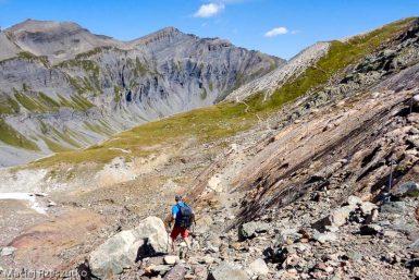 Traces des Dinosaures · Alpes, Préalpes de Savoie, Aiguilles Rouges, FR · GPS 46°2'53.28'' N 6°53'4.26'' E · Altitude 2379m
