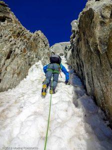 Couloir d'accès au Col du Diable · Alpes, Massif du Mont-Blanc, FR · GPS 45°51'14.90'' N 6°53'35.87'' E · Altitude 3850m