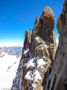 Pointe Carmen depuis la Brèche de l'Isolée · Alpes, Massif du Mont-Blanc, FR · GPS 45°51'17.19'' N 6°53'27.60'' E · Altitude 4078m