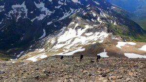Dans la descente du Mont Buet · Alpes, Préalpes de Savoie, Aiguilles Rouges, FR · GPS 46°1'10.91'' N 6°51'5.45'' E · Altitude 2914m