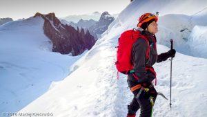 Sur les pentes nord du Mont Maudit · Alpes, Massif du Mont-Blanc, Vallée de Chamonix, FR · GPS 45°50'57.35'' N 6°52'30.56'' E · Altitude 4283m