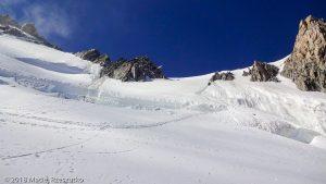 Descente par la face N du Mont Maudit · Alpes, Massif du Mont-Blanc, Vallée de Chamonix, FR · GPS 45°51'2.89'' N 6°52'31.91'' E · Altitude 4128m