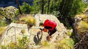 Via Ferrata · Alpes, Massif du Mont-Blanc, Val Veny, IT · GPS 45°48'6.41'' N 6°57'38.79'' E · Altitude 1594m