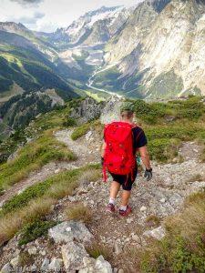 Dans la descente du Mont Chétif · Alpes, Massif du Mont-Blanc, Val Veny, IT · GPS 45°47'58.59'' N 6°56'52.42'' E · Altitude 2297m
