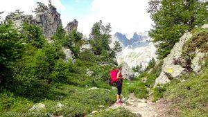 Dans la descente du Mont Chétif · Alpes, Massif du Mont-Blanc, Val Veny, IT · GPS 45°47'55.86'' N 6°56'40.98'' E · Altitude 2184m
