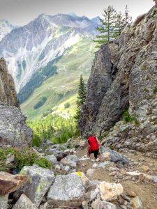 Dans la descente du Mont Chétif · Alpes, Massif du Mont-Blanc, Val Veny, IT · GPS 45°47'56.01'' N 6°56'35.65'' E · Altitude 2170m