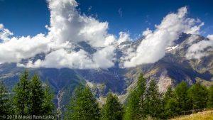 Passerelle suspendu · Alpes, Alpes valaisannes, Massif des Mischabels, CH · GPS 46°6'8.69'' N 7°48'16.19'' E · Altitude 2075m