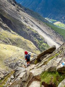 Dans la montée à Domhutte · Alpes, Alpes valaisannes, Massif des Mischabels, CH · GPS 46°6'13.08'' N 7°48'45.14'' E · Altitude 2615m