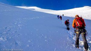 Face Nord du Dom · Alpes, Alpes valaisannes, Massif des Mischabels, CH · GPS 46°5'47.35'' N 7°51'28.87'' E · Altitude 4274m