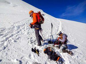 Face Nord du Dom · Alpes, Alpes valaisannes, Massif des Mischabels, CH · GPS 46°5'57.64'' N 7°51'38.95'' E · Altitude 4099m