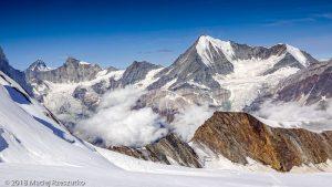 Face Nord du Dom · Alpes, Alpes valaisannes, Massif des Mischabels, CH · GPS 46°6'13.14'' N 7°51'39.98'' E · Altitude 3891m