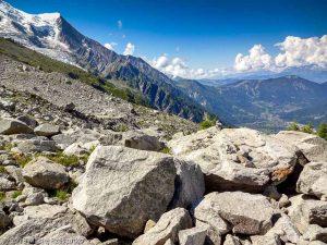 Traversée sous le Glacier des Pèlerins · Alpes, Massif du Mont-Blanc, Vallée de Chamonix, FR · GPS 45°53'51.61'' N 6°52'57.19'' E · Altitude 2228m