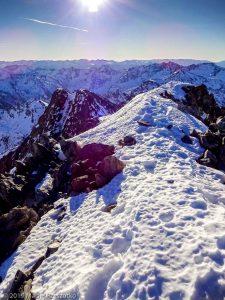 Sommet de la Pique d'Estats · Pyrénées, Pyrénées ariégeoises, Vallée de I'Artigue, FR · GPS 42°40'1.10'' N 1°23'52.42'' E · Altitude 3116m