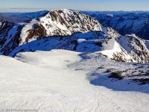 Descente de la Pique d'Estats · Pyrénées, Pyrénées ariégeoises, Vallée de I'Artigue, FR · GPS 42°40'4.22'' N 1°23'50.59'' E · Altitude 3078m