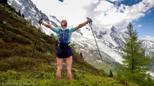 À l'approche du Plan de l'Aiguille, Arête des Bosses au Mont-Blanc derrière · Alpes, Massif du Mont-Blanc, Vallée de Chamonix, FR · GPS 45°54'17.70'' N 6°52'46.82'' E · Altitude 2055m