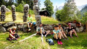 Pause pique-nique après la descente de l'Aiguillette des Posettes · Alpes, Massif du Mont-Blanc, Vallée de Chamonix, FR · GPS 45°59'45.07'' N 6°55'43.84'' E · Altitude 1343m