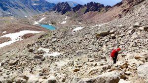 La descente par la voie normale · Alpes, Alpes grées, Val d'Aoste, IT · GPS 45°40'26.19'' N 7°23'8.40'' E · Altitude 3140m