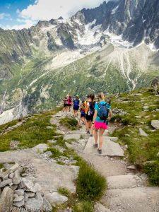 Descente à Montenvers Mer de Glace · Alpes, Massif du Mont-Blanc, Vallée de Chamonix, FR · GPS 45°55'42.67'' N 6°54'45.00'' E · Altitude 2177m