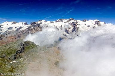 Mont Rose · Alpes, Val d'Aoste, Vallée d'Ayas, IT · GPS 45°49'49.41'' N 7°47'14.30'' E · Altitude 3209m