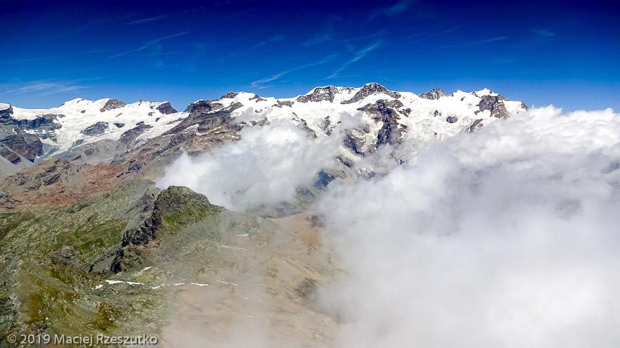 Mont Rose · Alpes, Val d'Aoste, Vallée d'Ayas, IT · GPS 45°49'49.41'' N 7°47'14.30'' E · Altitude 3209m