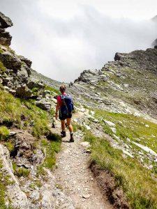 Retour au Col de Pinter · Alpes, Val d'Aoste, Vallée d'Ayas, IT · GPS 45°49'13.27'' N 7°47'13.90'' E · Altitude 2740m