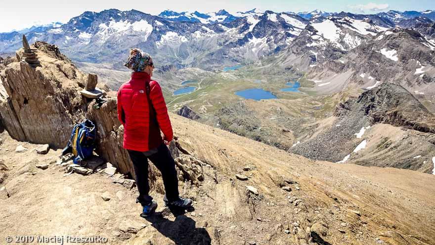 Vue depuis le sommet du Taou Blanc · Alpes, Val d'Aoste, Parc National du Grand Paradis, IT · GPS 45°31'17.90'' N 7°8'54.93'' E · Altitude 3438m