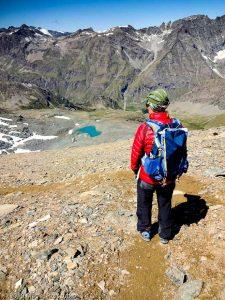 Descente au Col Leynir · Alpes, Val d'Aoste, Parc National du Grand Paradis, IT · GPS 45°31'12.91'' N 7°8'32.37'' E · Altitude 3184m