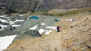 Descente au Col Leynir · Alpes, Val d'Aoste, Parc National du Grand Paradis, IT · GPS 45°31'9.62'' N 7°8'27.20'' E · Altitude 3119m