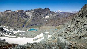 Vue depuis le Col Leynir · Alpes, Val d'Aoste, Parc National du Grand Paradis, IT · GPS 45°31'4.99'' N 7°8'24.54'' E · Altitude 3046m