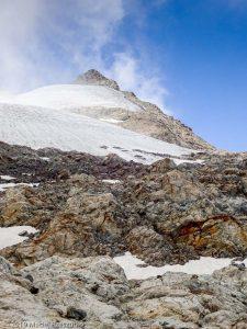 Arrivé au bivouac Gino Rainetto · Alpes, Massif du Mont-Blanc, Val Vény, IT · GPS 45°47'8.15'' N 6°50'24.51'' E · Altitude 3047m