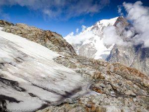 Reconnaissance du parcours la veille de l'ascension · Alpes, Massif du Mont-Blanc, Val Vény, IT · GPS 45°47'16.91'' N 6°50'17.86'' E · Altitude 3136m