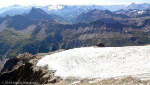 Dans la descente du Petit Mont Blanc · Alpes, Massif du Mont-Blanc, Val Vény, IT · GPS 45°47'25.86'' N 6°50'5.26'' E · Altitude 3296m