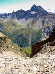 Dans la descente du bivouac Gino Rainetto · Alpes, Massif du Mont-Blanc, Val Vény, IT · GPS 45°47'1.64'' N 6°50'38.91'' E · Altitude 2799m