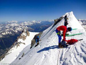 Arête du Triangle · Alpes, Massif du Mont-Blanc, FR · GPS 45°51'33.27'' N 6°53'13.42'' E · Altitude 4137m