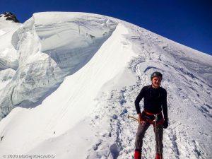 Arête du Triangle · Alpes, Massif du Mont-Blanc, FR · GPS 45°51'33.38'' N 6°53'13.36'' E · Altitude 4137m