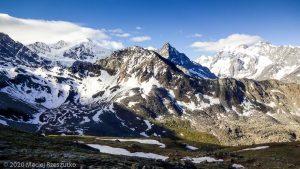 Bishorn 4153m · Alpes, Alpes centrales, Vallée d'Anniviers, CH · GPS 46°7'38.28'' N 7°39'53.91'' E · Altitude 2845m