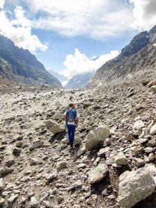 Dans la montée au Refuge du Couvercle · Alpes, Massif du Mont-Blanc, FR · GPS 45°55'23.78'' N 6°55'24.83'' E · Altitude 1753m