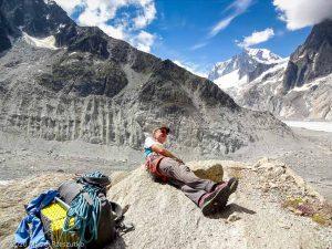 Dans la montée au Refuge du Couvercle · Alpes, Massif du Mont-Blanc, FR · GPS 45°54'10.91'' N 6°57'23.26'' E · Altitude 2142m