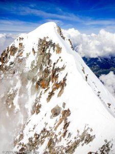Aiguille Verte depuis Grande Rocheuse · Alpes, Massif du Mont-Blanc, FR · GPS 45°56'4.24'' N 6°58'21.74'' E · Altitude 4075m