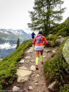 Stage Trail Découverte J2 · Alpes, Massif du Mont-Blanc, Vallée de Chamonix, FR · GPS 45°55'3.17'' N 6°54'10.04'' E · Altitude 2070m